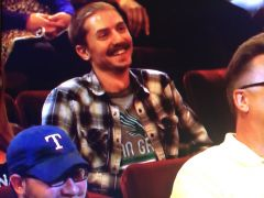 Mean Green fan on Conan Show