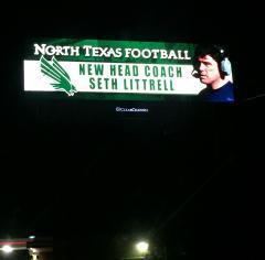 Seth Littrell UNT Billboard