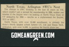 North Texas to SWC?