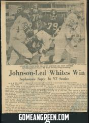 Johnson led Whites Win
