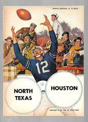 1958 North Texas vs. Houston Game Program