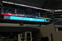 Wider angle of UNT banner ad at AT&T Stadium