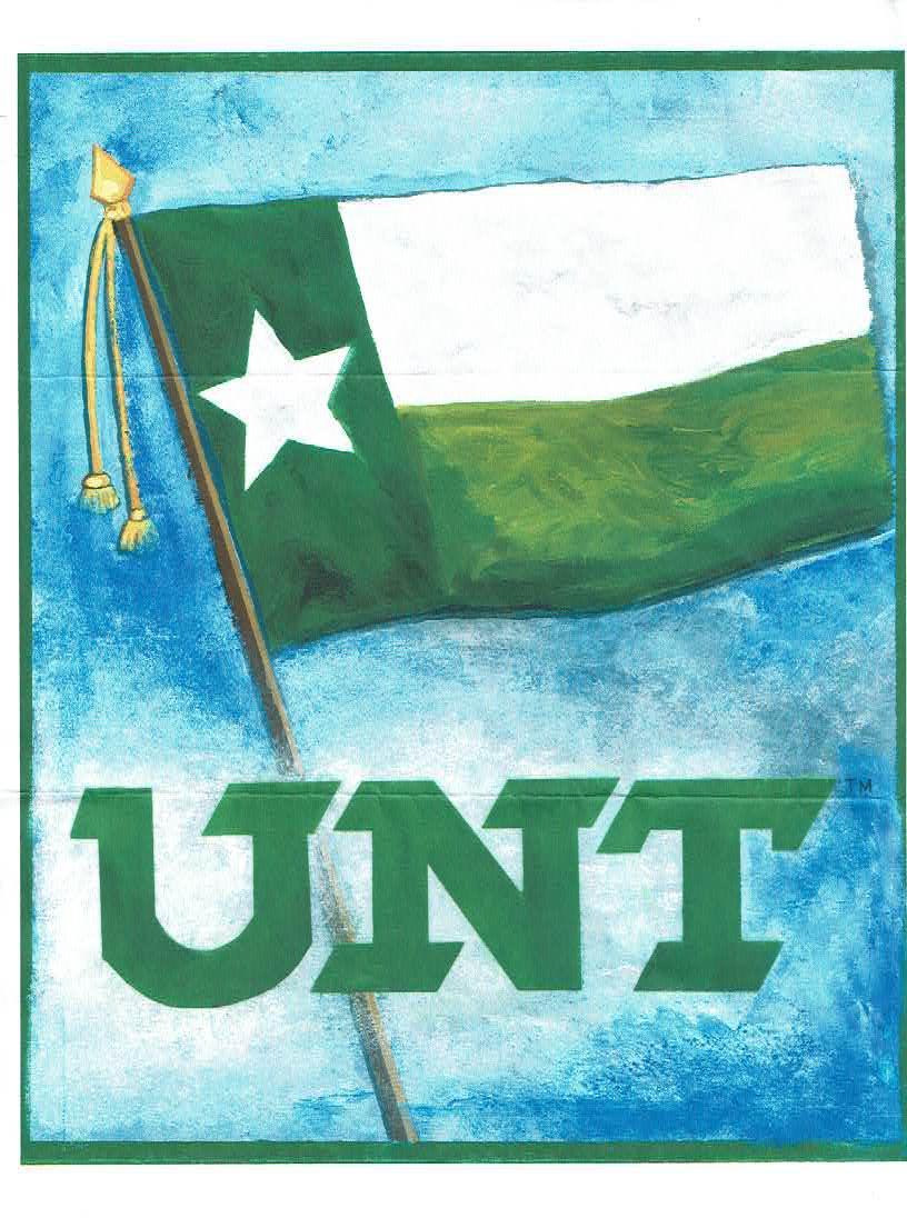New UNT Battle Flag